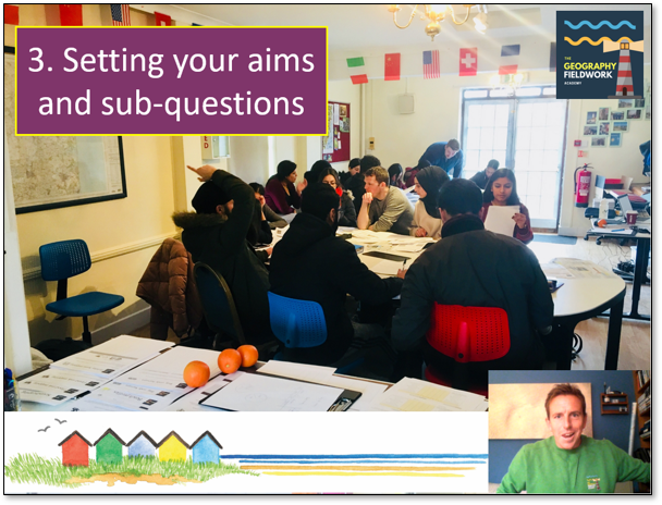 Session 3: Setting aims and sub-questions